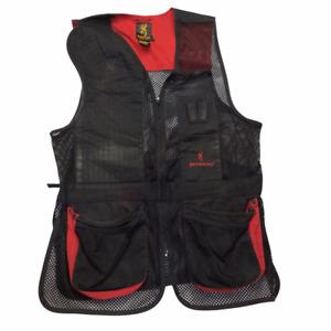 Browning Mens Hunting Vest Black Red Mesh Zipper Pockets 2XL