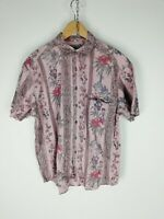TOM TAILOR Camicia VINTAGE MADE IN GERMANY Maniche Corte Shirt Maglia Tg XL Uomo