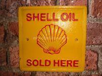 Cast Iron Shell Oil Square Plaque