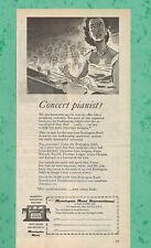 Concert pianist ? REMINGTON 1957 Vintage Print Ad # 83 6