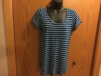 Women's Banana Republic Blue Stripped Shirt Size M