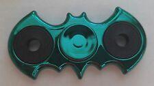 GREEN BATMAN symbol CHROME FIDGET SPINNER ADHD Autism