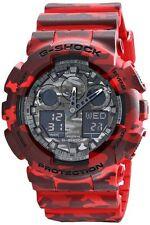 * Nuevo * CASIO Mens G Shock Rojo Camuflaje Combi Reloj XL GA-100CM-4A PVP £ 199