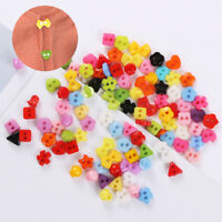 Small  Craft Decorative Clothing Mixed Pattern Shaped Button Sewing Candy Color