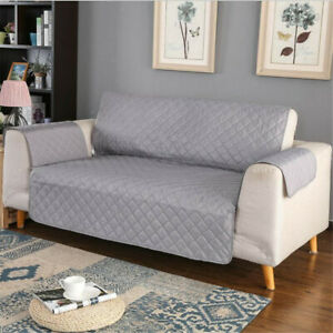 100% Waterproof Loveseat Cover for Leather Couch Quilted Furniture Protector