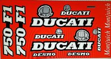 DUCATI MONTJUICH 750F1 750 F1  MODEL  PAINTWORK DECAL KIT