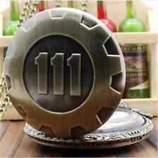 New Vault 111 Chain Watch Fallout Pip Boy Nuka ColaSteampunk Bronze Men Vintage