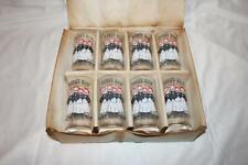 Set of 8 Barber Shop Quartet ACL Drinking-Barware Glasses NOS