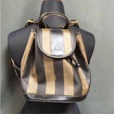 Fendi ... backpack mini back leather brown