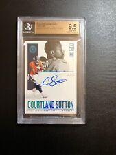 Courtland Sutton 2018 Panini Encased 8/25 Scripted Signatures RC Sapphire 9.5/10