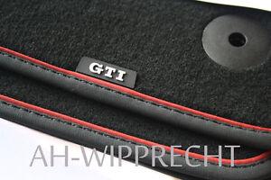 Original VW Golf 7 5G GTI Fußmatten schwarz/rot Velours Textilmatten Design OEM