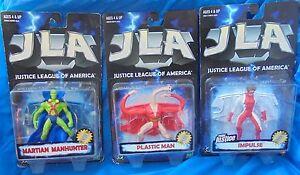 Justice League Of America MOC Figure Lot Plastic Man Impulse Martian Manhunter