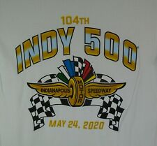 104TH Indy 500 Indianapolis Motor Speedway May 24, 2020 White T-Shirt New