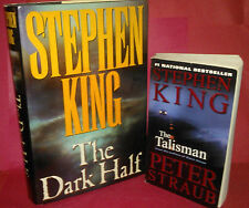 Stephen King The Dark Half 1989~FIRST ED,HC+The Talisman SC 1st Ballatine2001-VG