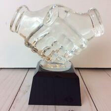 Glass Handshake Trophy Achievement Sales Teamwork FairPlay
