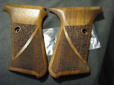 HK P7 M8 ONLY Fine English Walnut Checkered/Textured Pistol Grips NO LOGO NEW