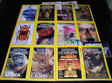 12 NATIONAL GEOGRAPHIC MAGAZINE COMPLETE SET 2001 ~ INCLUDES ALL SUPPLEMENTS