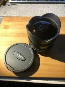 Rokinon 8mm f3.8 Fisheye Lens - Canon EF mount APS-C   Cine Lens Wide Angle