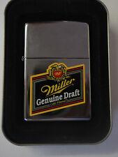 Retired Polished Chrome Miller Genuine Draft Zippo lighter