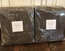 Restoration Hardware Belgian Heavyweight Textured Linen Drape 50x96 Curtains Set