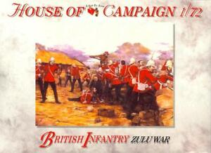 A Call to Arms Models 1/72 ZULU WARS BRITISH INFANTRY Figure Set