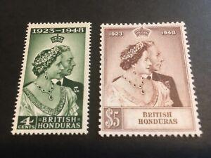 BRITISH HONDURAS - 1948 Royal Silver Wedding -SG Nos 164/5 -LIGHTLY MOUNTED MINT