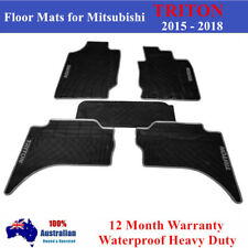 Mitsubishi Triton MQ GLS GLX Dual Cab All Weather Rubber Car Floor Mats 2019 18