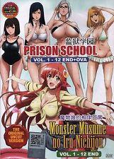 DVD Uncut Prison School + Monster Musume 1-12 END+OVA  Complete Series Anime