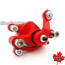 Red Left Disc Brake Caliper For 33cc 43cc 49cc 50cc Gas Goped Scooter