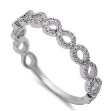 .17CT Round Diamond Infinity Stackable Wedding Anniversary Band 14kt White Gold