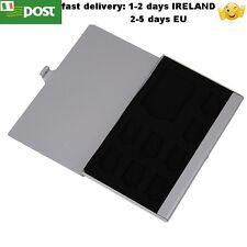 Holder Memory Card Aluminum 1SD+ 8TF Micro SD Cards Pin Storage Box Case