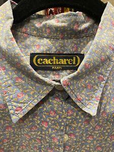 Cacharel Paris Vintage Shirt Size AU8-10 100% Cotton Made In France