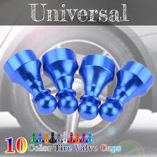 4Pcs Car Tire Tyre Blue Wheel Air Port Dust Cover Ventil Valve Stem Caps Chess