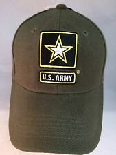 NWT-U.S. ARMY 3-D EMBROIDERED LOGO HAT WITH INSIGNIA LOGO-ARMY GREEN HAT