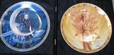 New Nrfb 1996 Bob Mackie Plate Set*Sun&Moon Goddess*Porcelain by Enesco ~Japan