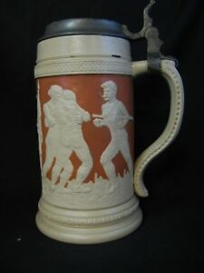 Vintage Sports Ceramic Stein Olympic Theme