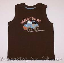 Boys GYMBOREE Safari Outback tank 3-6 NWT brown t shirt Jeep summer orange
