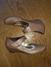 Ladies Clark Mary Jane leather shoes sz6 wartime look 1920'S 30s Peaky Blinders
