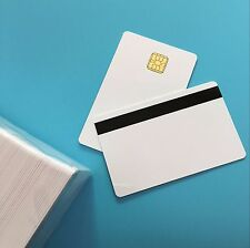 SLE4428 Big Chip W/ Hi CO Magstripe White Contact IC Smart Chip PVC Card 200PCS