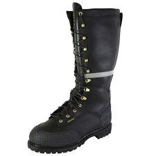 John Deere Mens JD9330 Steel Toe Waterproof Miner Boot Shoe, Black, US 6.5