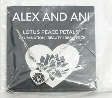 NEW Alex and Ani LOTUS PEACE PETALS Adjustable Silver Heart Necklace