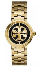 Big Sale!!! Tory Burch Reva Watch Gold Tone/Black Women 28mm TRB4017 MSRP $495