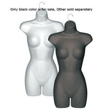 Black Female 3/4 Body Molded Half Form 31 H x 16 W Inches with Hanging Hook