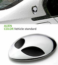 2Pcs Full Metal 3D Alienware Alien Head Auto Logo Sticker Badge Emblem Car Decal