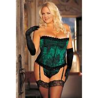 Shirley of Hollywood Extra Plus Size Strapless Floral Tapestry Corset
