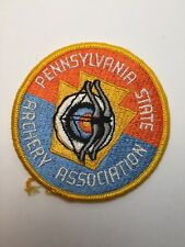 """Vtg Pennsylvania State Archery Patch Pa Bow Hunting Target Archer Arrow 3"""""""