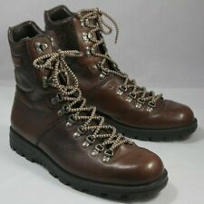 Pair Brown Gucci Crest Logo Combat / Hiking Boots Gucci Size 10