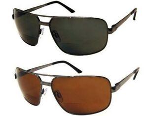 BIFOCAL POLARIZED Sunglasses Reading 100%UV400 Fishing Men Aviator Polycarbonate