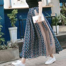 Women Chiffon Skirt Long Maxi High Waist Summer Wrap Pleated Beach Skirt Dress L