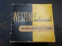 Vintage Weston Instruments Direct Current Panel Meter Model 301